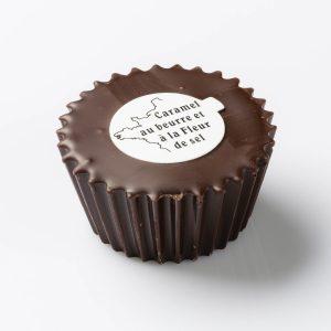Bouchée Carassel, chocolat noir
