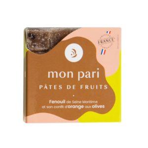 Apéritive fenouil, confit d'orange, olive