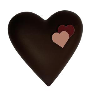 Coffret Coeur tendre garni 300g Noir